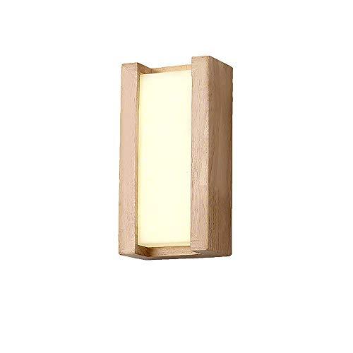 Cristal 6 Licht (YLCJ Wandleuchte halterung licht wandleuchte ständer Wandlampen Applique massivholz kreative flur licht nachtlampen schlafzimmer wand 14 * 14 * 6 cm (weißes licht))