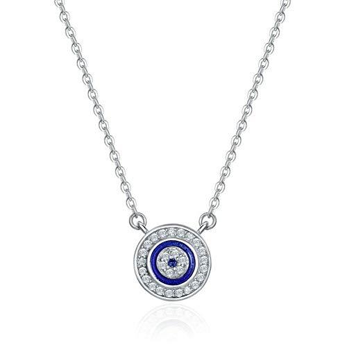 Hcbyj collana collana con ciondolo in argento sterling 925 gioielli da donna in argento sterling di lusso
