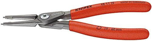 KNIPEX 48 11 J4 Präzisions-Sicherungsringzange für Innenringe in Bohrungen grau atramentiert mit rutschhemmendem Kunststoff überzogen 320 mm