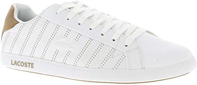 Lacoste Graduate scarpe da ginnastica da Uomo, Bianco Marronee, 6.5 6.5 6.5 UK - 40 EU - 7.5 US   Bella arte  a46a23
