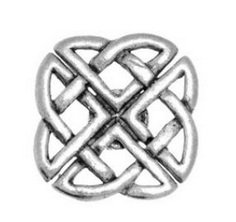 Gift Boxed Pewter Small Celtic Knot Badge pin or Brooch Gift for Scarf, Tie, Hat, (Ankh Abbigliamento)