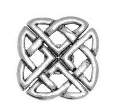 In confezione regalo, con motivo a nodo celtico in peltro-Badge con spilla, idea regalo o (Ankh Abbigliamento)
