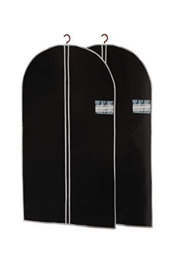 BigDean Stabiler Kleidersack im 2er Set - Premium Schutzhülle für Kleidung 150x60cm groß - perfekt für unterwegs, auf Reisen oder im Schrank (Wintermäntel Herren Klein)