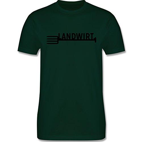 Landwirt - Landwirt - Herren Premium T-Shirt Dunkelgrün