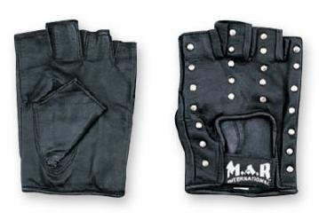 M.A.R International Ltd. Ninja Leder Handschuhe Nieten One Size Schwarz