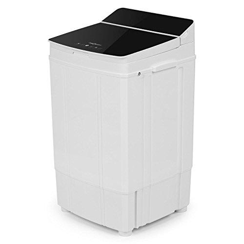 Oneconcept Ecowash Deluxe 4 • Rápida centrifugadora con reducción de secado • Carga superior • Capacidad 4 kg • Económica • Máx 290 W • Ligera • Móvil • 2 programas • Temporizador • Camping • Negro