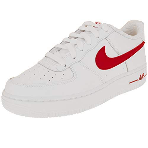 new product 3c839 1d38e NIKE Air Force 1-3 (GS) White Gym-Red AV6252-