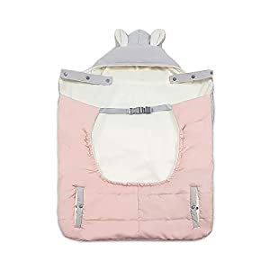 SONARIN All Seasons Weather Thick Cover for Baby Carrier,Cloak for Winter Warm,Fit Any Baby Carrier,Windproof,Waterproof(Pink)   2