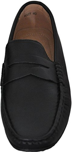 Mocassins à doublure intérieure cuir g001 Noir 003