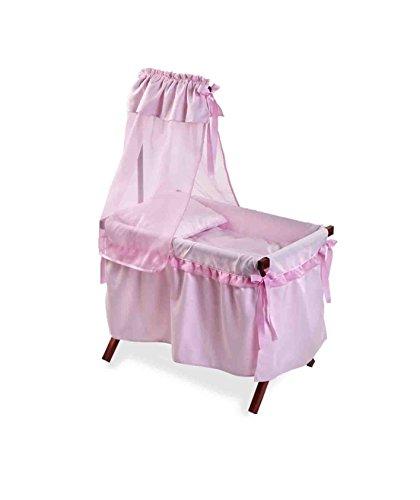 Muñecas Arias - Cuna para muñeca, color rosa