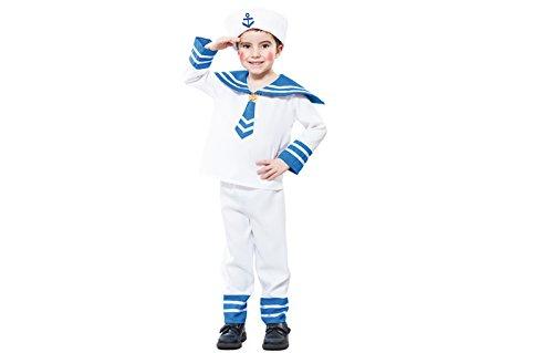 fyasa 706158-t00Sailor Fancy Dress Kostüm, Klein (Sailor Fancy Dress Kostüm)