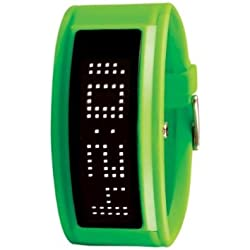 Black Dice GURU Green Watch with LED Programmable Scrolling Message