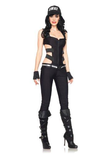 Leg Avenue 83907 - Swat Sharpshooter Kostüm, Größe M, schwarz (Sniper Halloween Kostüme)