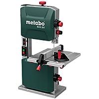 Metabo 619008000Sierra de cinta BAS 261Precision   + hoja de sierra, accesorio paralelo, accesorio angular, adaptador aspirador, bastón de corredera (superficie: 328x 335mm/ 400W/ 32,5kg)