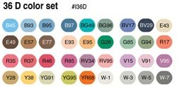 Copic Ciao Markers 36 Piece Set - Set D -