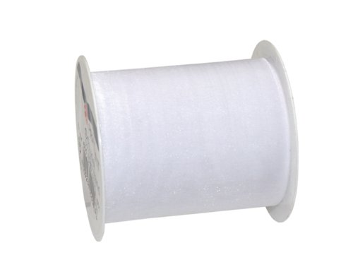 Duo Sheer (C.E. Pattberg 6017505-601 Geschenkband, Sheer, 5 m x 72 mm, weiß)