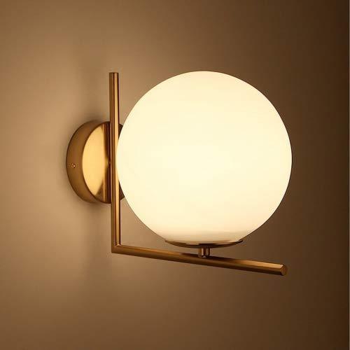 Lampada a sfera rotonda oro a LED Lampada da parete nordica da ...