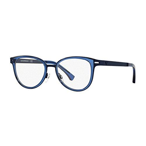 Emporio Armani Montures de lunettes Pour Femme 1032 - 3100  Blue Rubber -  53mm ad5ccb045ae0