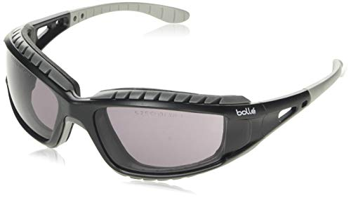 Bolle Tracker 2/II Safety Glasses - Smoke Lens, Retaining Cord & Storage Pouch