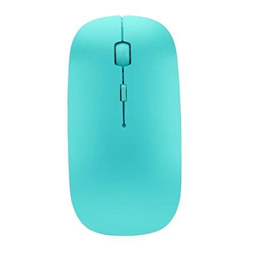 Ultradünne kabellose Maus, Mamum Slim 2,4 GHz, optische kabellose Maus und Empfänger für Laptop, PC, Mac Einheitsgröße grün