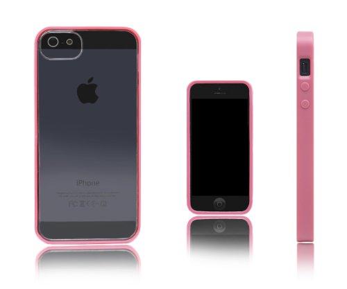 Xcessor Impact Schutzhülle Für Apple iPhone SE / 5S / 5. Zweifarben-Design Flexibel TPU Gel Schutzhülle. Schwarz / Grau / Semi-transparent Pink/Transparent