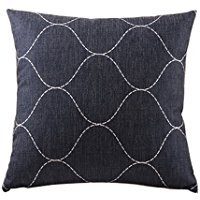 B Lyster shop Basketweave Pattern Black #4807W 18 x 18 Pillow Case Home Decor Cushion Cover