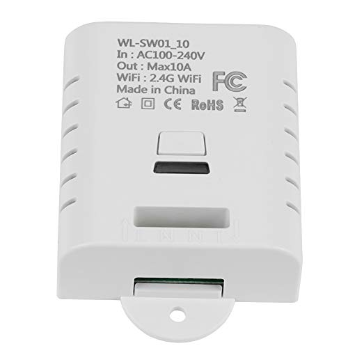 Akozon Wifi Smart Switch 10A 16A Wifi Funkschalter Fernbedienung Automation Relaismodul für Smart Home(SW1-10) -