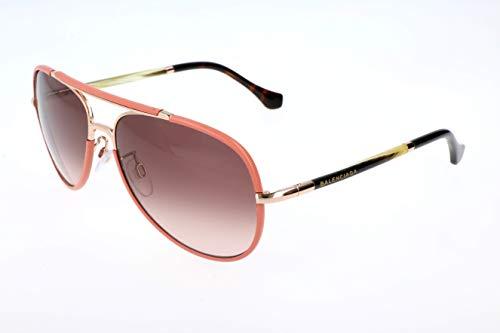 Balenciaga Damen Sonnenbrille, Gold, 60