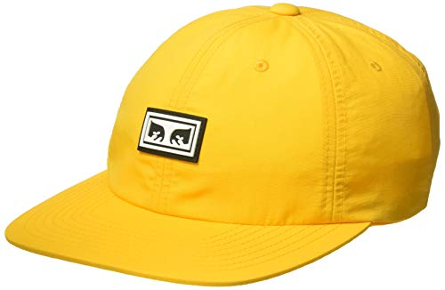 6 Panel Strapback HAT Baseball Cap, Energy Yellow, Einheitsgröße ()