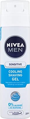 Nivea Men Sensitive Cooling Shaving Gel, 200 ml - Pack of 6 from Beiersdorf UK Ltd