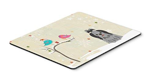 Caroline 's Treasures Christmas Presents, Shih Tzu schwarz silber Maus Pad, multicolor, 7,75x 23,5(bb2561mp) -
