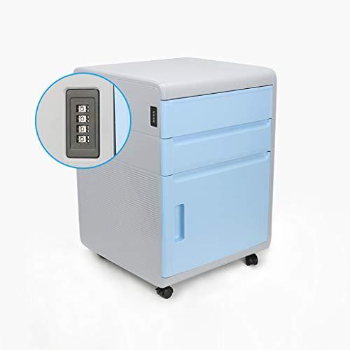 Hänge- & Einstellmappen Passwort Aktenschrank Datenspeicher Schließfach Aktivität DREI Pumpensperre Schubladenschrank Schreibtisch unter dem Passwort Schrank (Color : Blue, Size : 41 * 40 * 59cm)