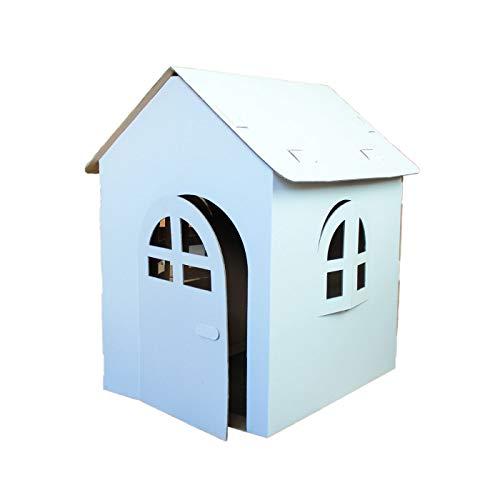 folbox Spielhaus Bastelkarton zum Bemalen Puppenhaus glatt