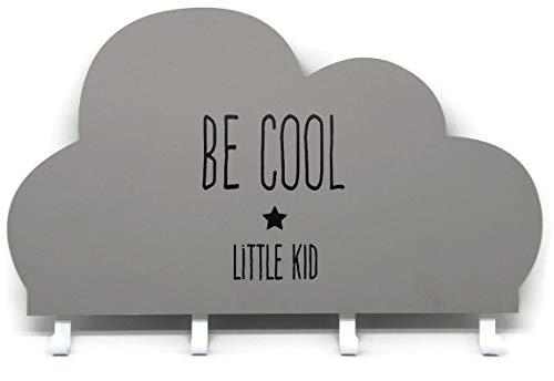 Bada Bing Kindergarderobe Wolke Grau mit 4 Haken BE COOL - LITTLE KID Garderobe Unisex Ca. HBT 22 x 35 Cm Fürs Kinderzimmer Babyzimmer Deko Wandhaken Wandgarderobe Zeitlos Trend 16