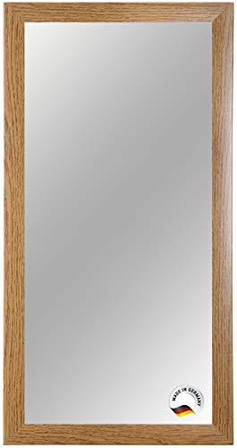 Spiegelrahmen nach Maß, 50 cm x 30 cm, Farbe: Eiche-Rustikal, Spiegel Wandspiegel Badspiegel Bad Flur, Rahmenbreite 35 mm