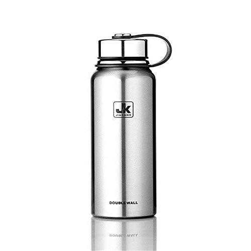 Camerlon600/800/1100/1500 mlGrande capacità Bottiglia diplastica per sementi inAcciaio Inox Sport Portatile Bottiglia per Acqua di Sport con Manico inArgento 800 ml