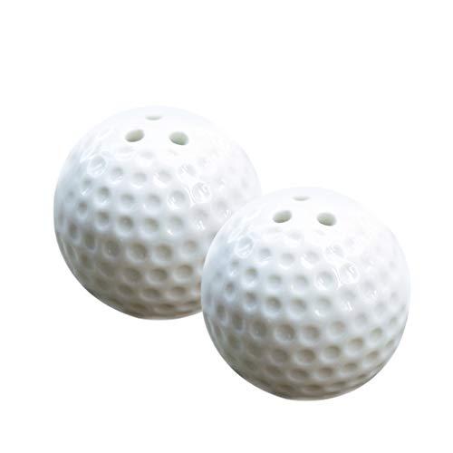 PETSOLA 2er-Set Keramik Gewürzdosen Gewürzstreuer mit Golfball Design