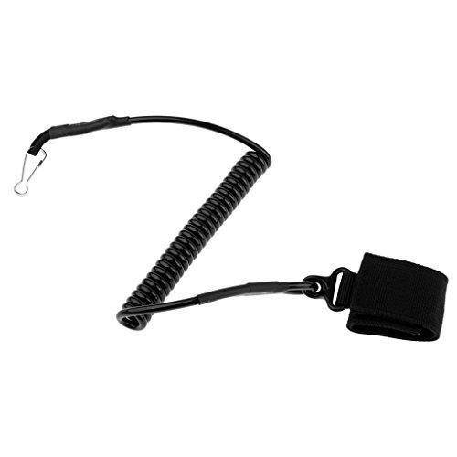 D DOLITY Spiralkabel Schlüsselkette mit Karabinerhaken Schlüsselring für Outdoor-Camping,...
