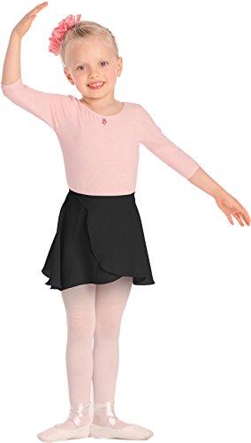 Mädchen Ballett Wickelrock Ballettrock, verschiedene Farben 2006 (110/116, Schwarz)