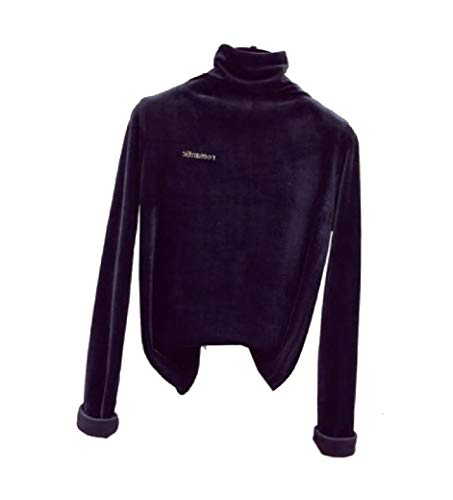 VITryst Women Blouse Fall Winter Turtleneck Pleuche Long-Sleeve T-Shirt Black XS -
