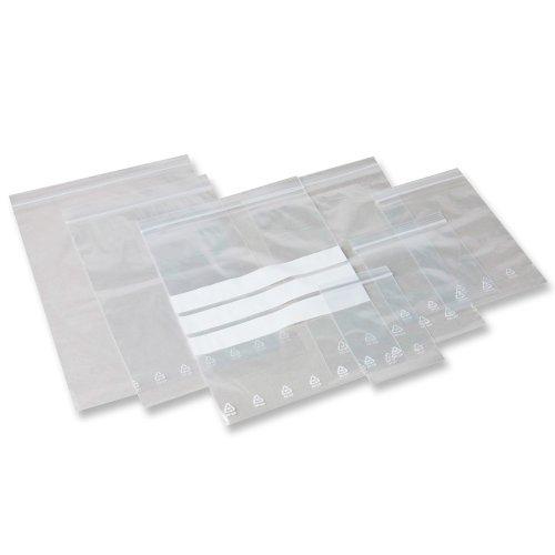 1000 x PolyZip-Beutel 60 x 80 mm / lebensmittelecht / mit Kunststoffleiste zum einfachen Öffnen und wieder Verschliessen des Kunststoffbeutels / PE-Dicke: 50 my / Zipper-Bags / Zip-Tüten / Schnellverschlussbeutel / Druckverschlussbeutel
