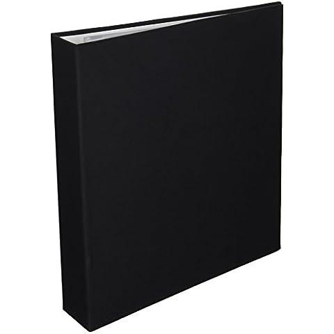 """Colorbok-Album a 3 anelli 21,59 27,94 cm x 11 x (8,5"""") tessuto, colore: nero"""