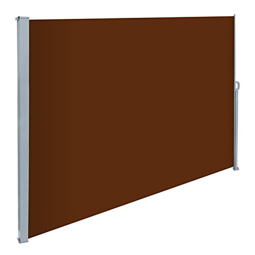 ecd-germany-200-x-300-cm-brown-polyester-sidewall-awning-sun-protection-including-mounting-material