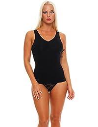 2 Stück Damen Form-Unterhemden Shapewear sanft formend verschiedene Farben kaschiert Taille und Bauch ohne Nähte Seamless Gr. 40/42 bis 52/54