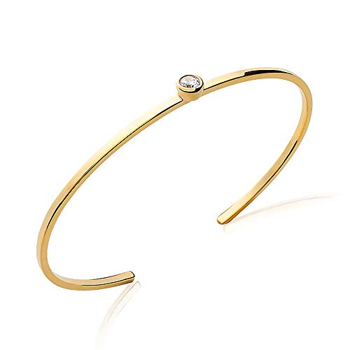 You.Me.We. - Offenes Armband aus 18 Karat Golddublee mit 4 mm Oxid - Damenschmuck