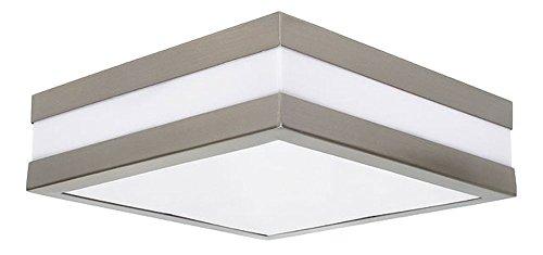 Außen Decken Lampe Fassaden Terrassen Haus Tür Chrom Leuchte quadratisch IP44 Kanlux 8981 - Outdoor-beleuchtung Deckenleuchte