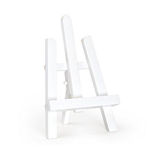 Tisch-Staffelei, Buchenholz, 270mm, verschiedene Farben, weiß, 28 cm