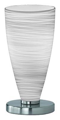 Trio-Leuchten 570910101 Energiespar-Tischleuchte,1xE14,7W,Nickel matt,Glas opal m. gewischt von Trio Leuchten bei Lampenhans.de