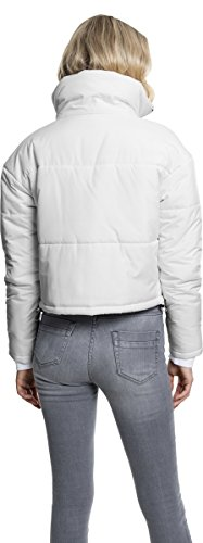 Urban Classics Damen Jacke Ladies Oversized High Neck Jacket White