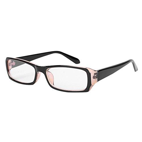 Brille ohne sehstärke unisex für Frauen und Männer clear fashion schmal Rahmen Strahlenschutz UV Schutz Verschiedene Farben mit Brillenetui